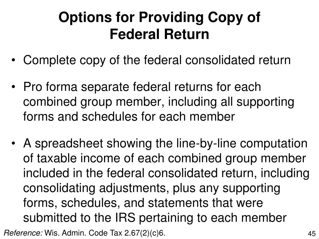 Options for Providing Copy of