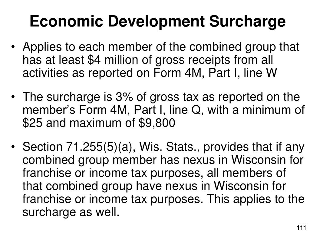 Economic Development Surcharge