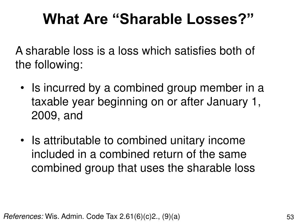 "What Are ""Sharable Losses?"""