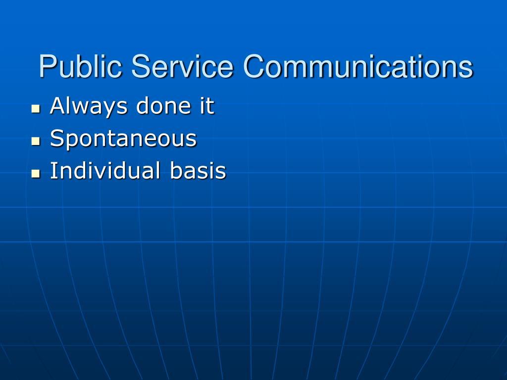 Public Service Communications