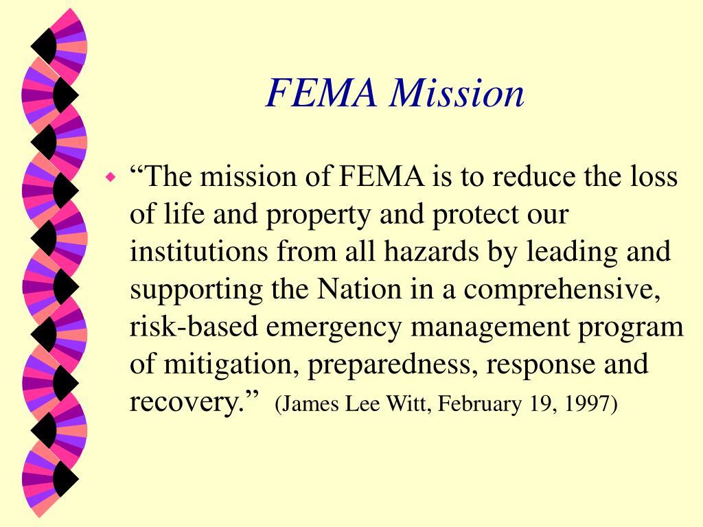 FEMA Mission