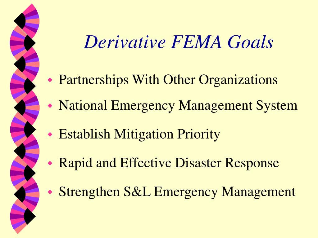 Derivative FEMA Goals