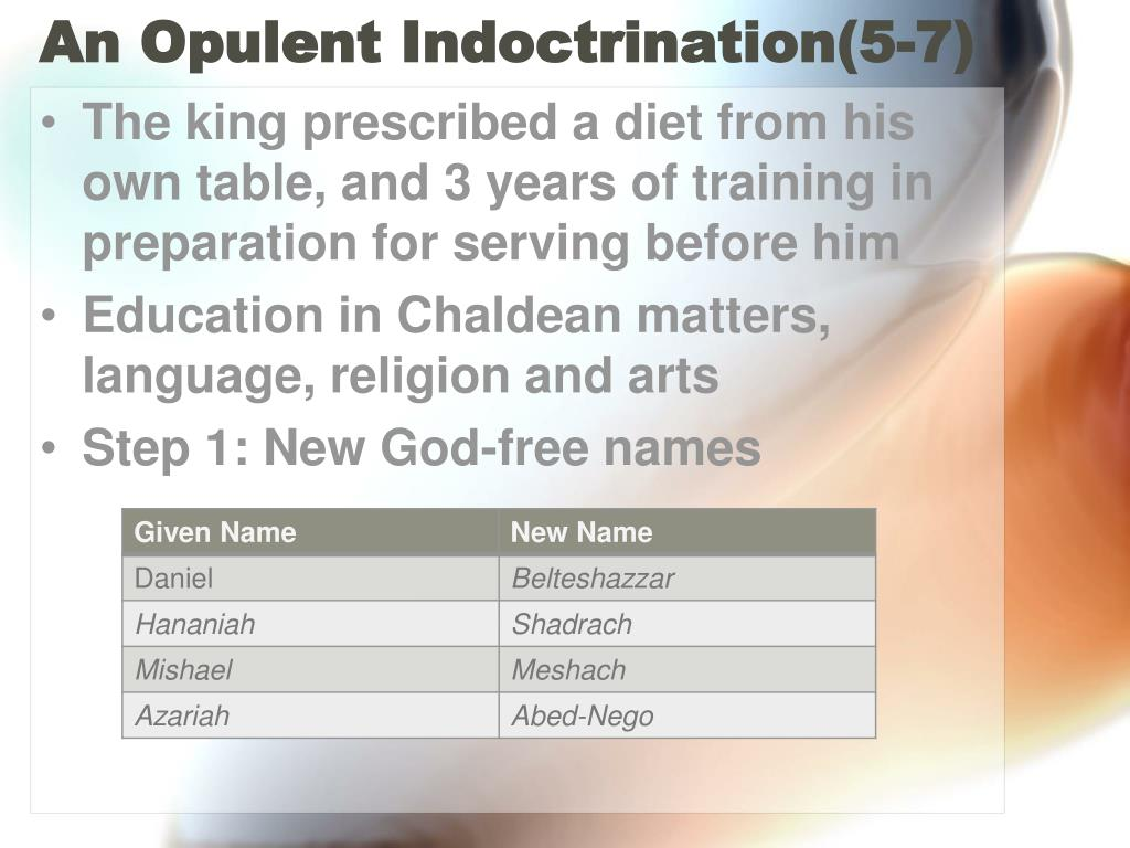 An Opulent Indoctrination(5-7)