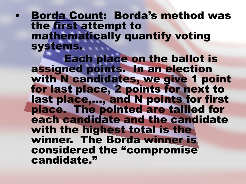 Borda Count