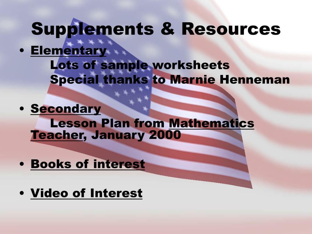 Supplements & Resources