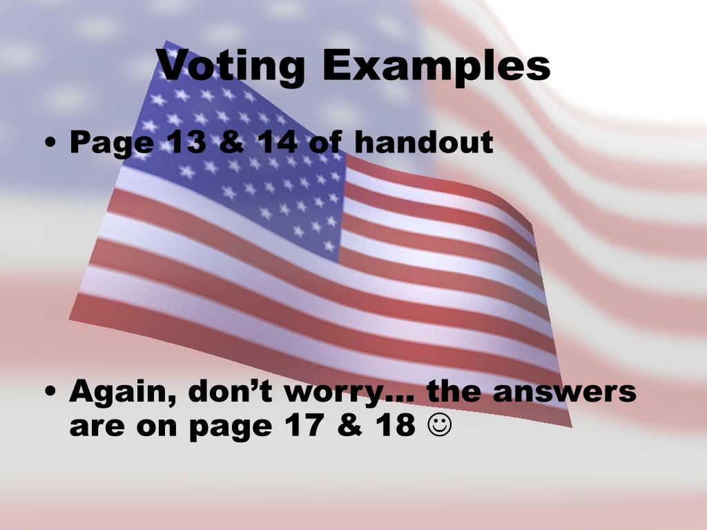 Voting Examples
