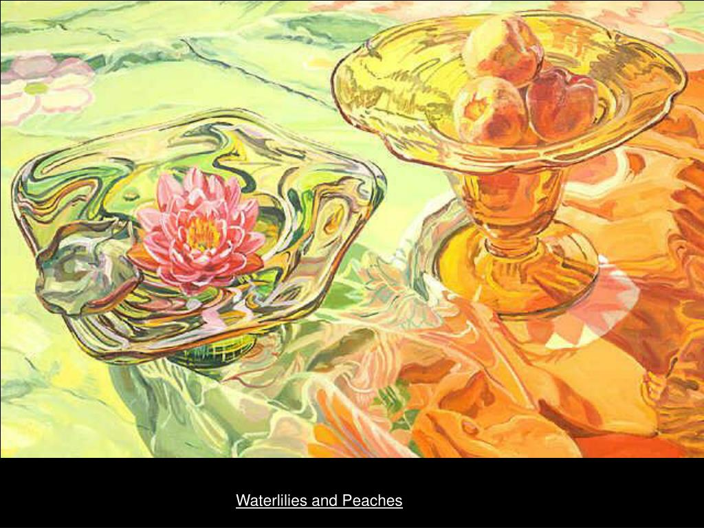 Waterlilies and Peaches