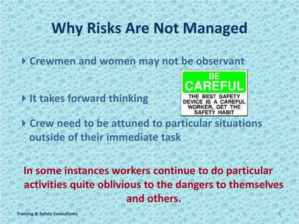 Why Risks Are Not Managed