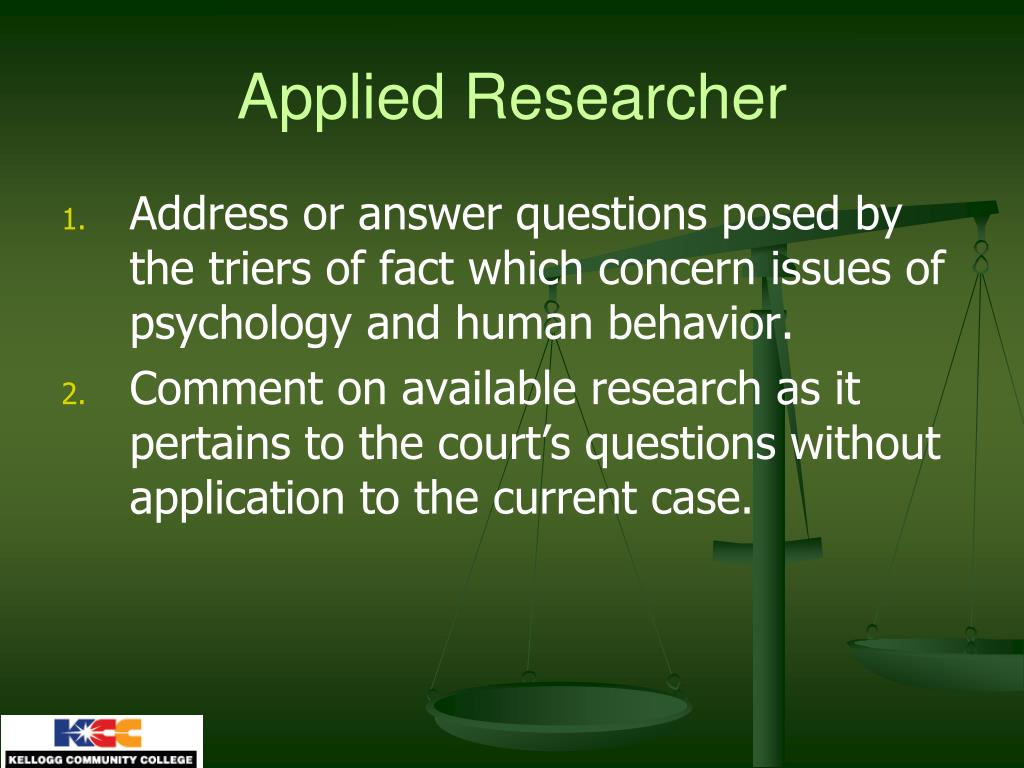 Applied Researcher