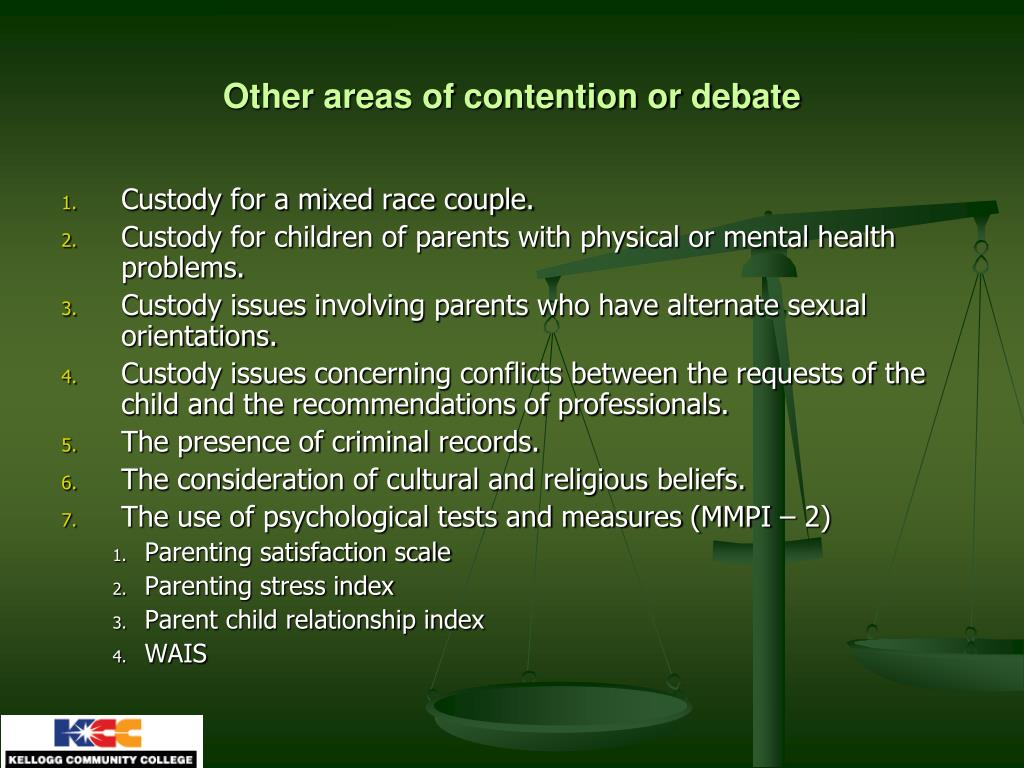 Other areas of contention or debate
