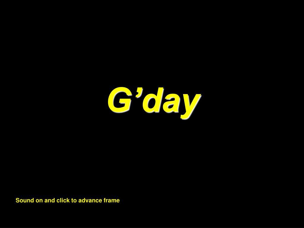 G'day