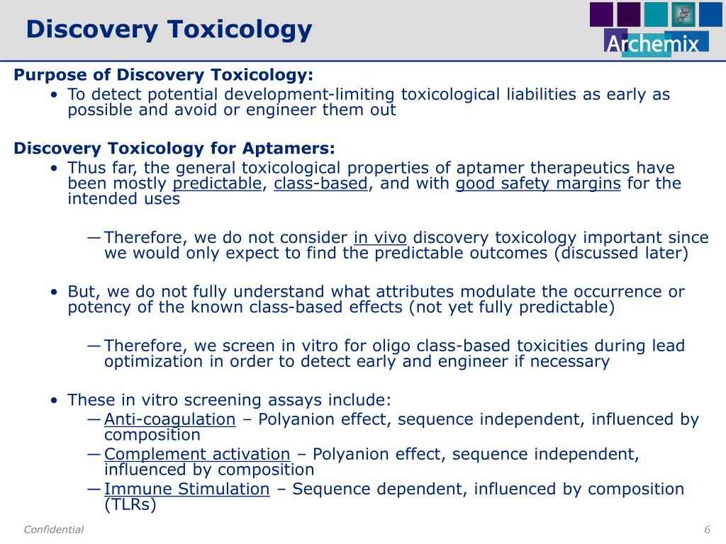 Discovery Toxicology