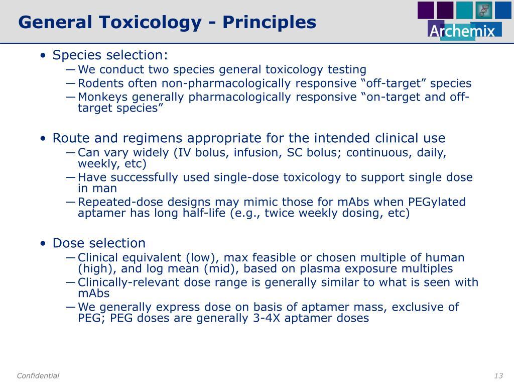 General Toxicology - Principles