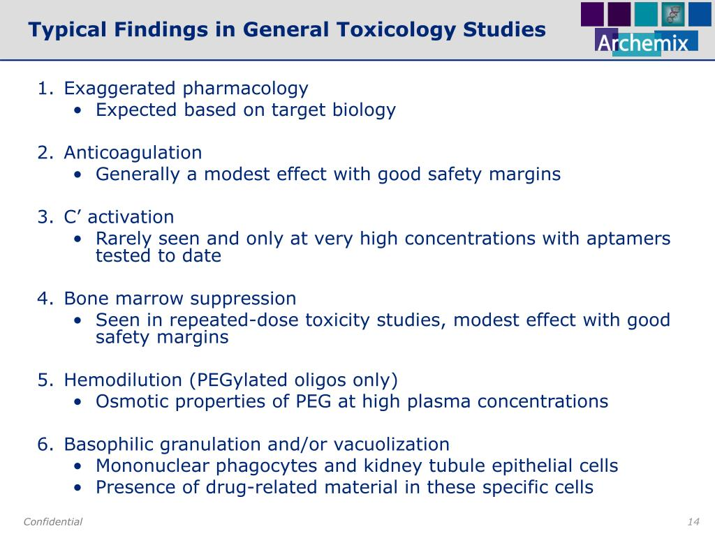 Typical Findings in General Toxicology Studies