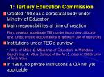 1 tertiary education commission