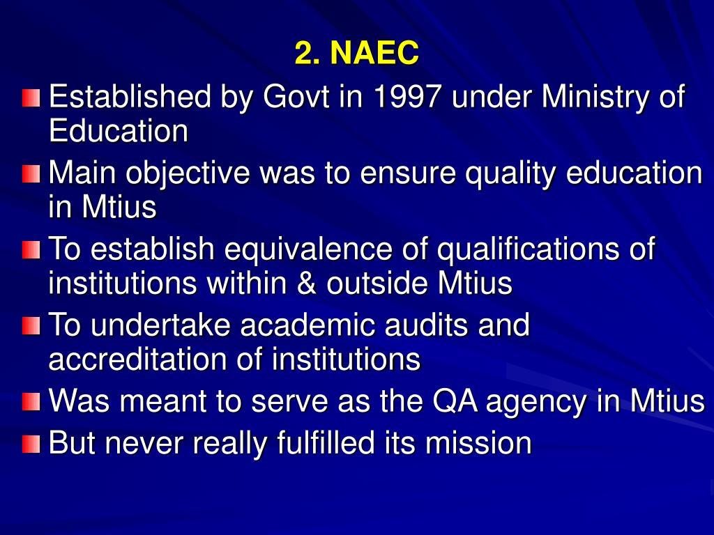 2. NAEC
