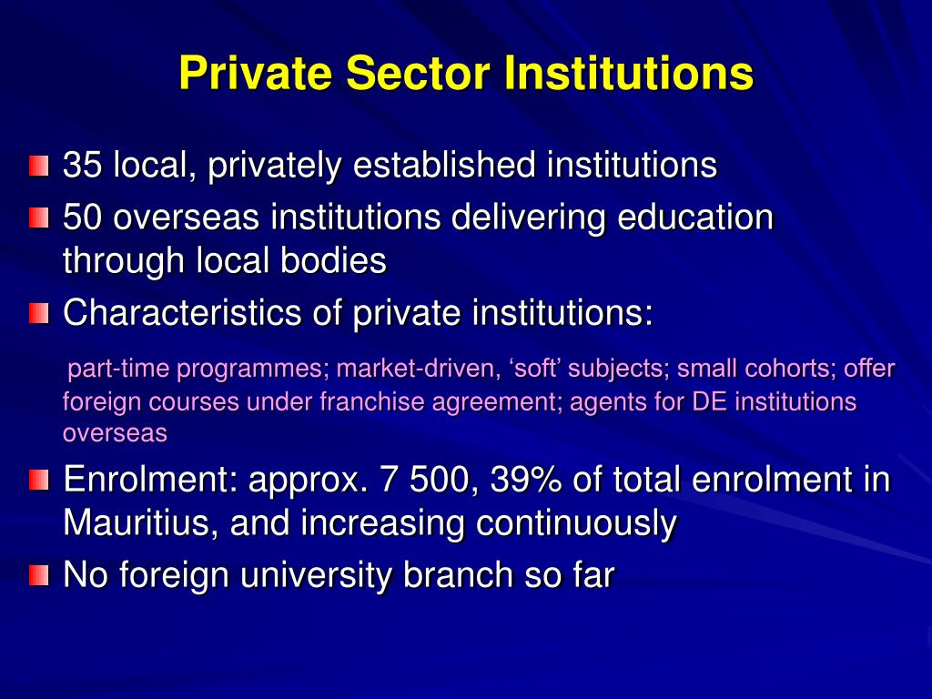 Private Sector Institutions