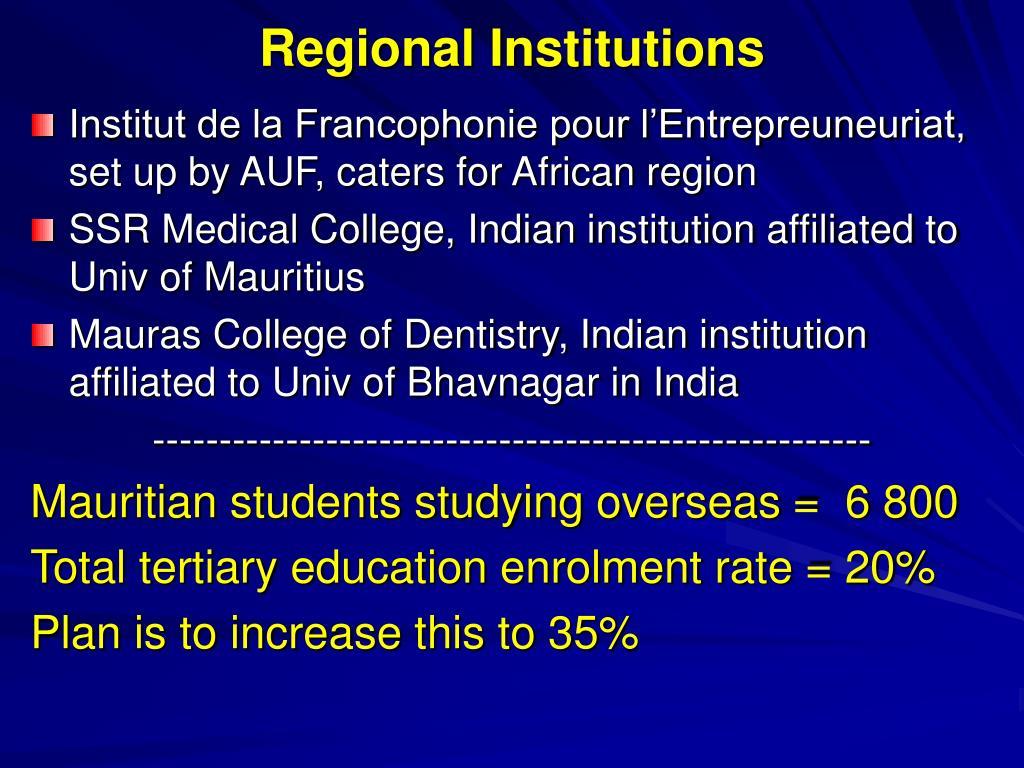 Regional Institutions