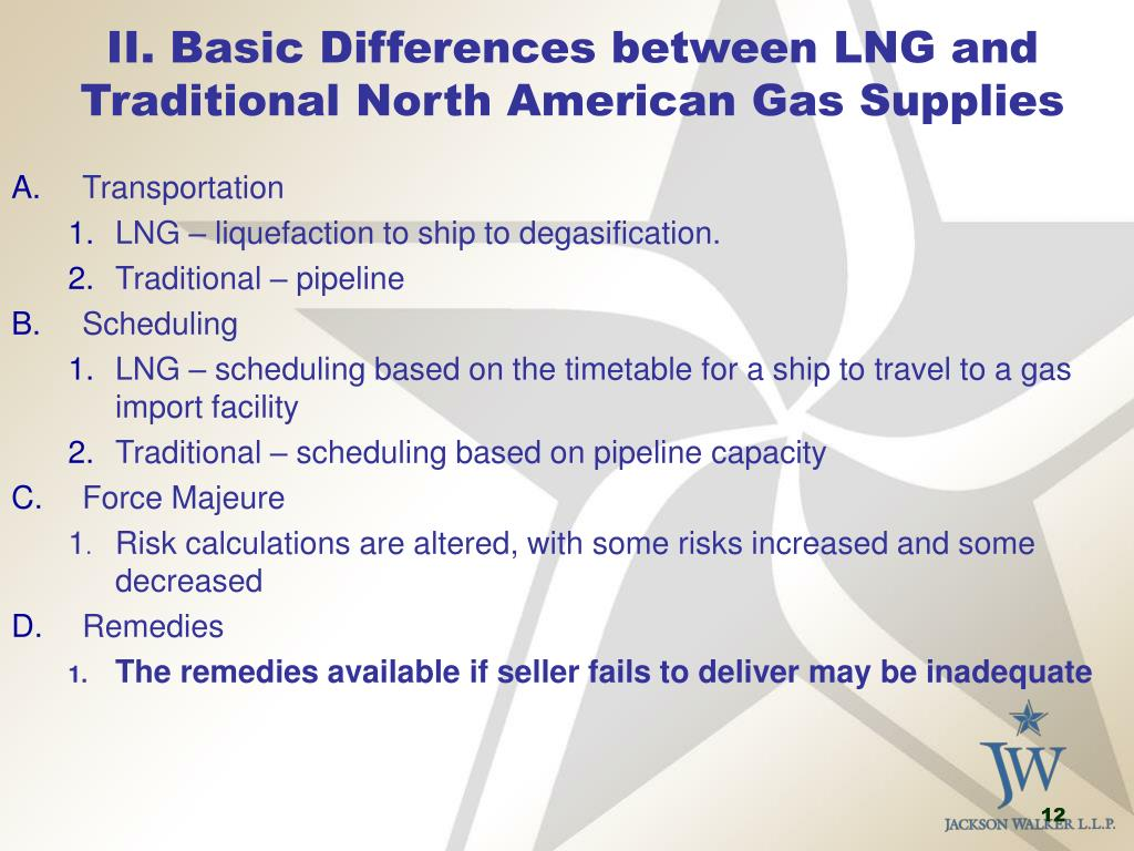 II. Basic Differences between LNG and Traditional North American Gas Supplies