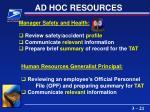 ad hoc resources21