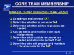 core team membership