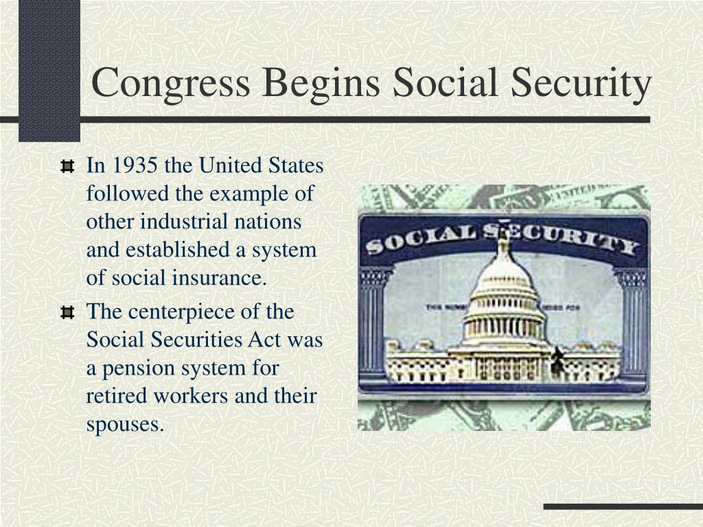 Congress Begins Social Security