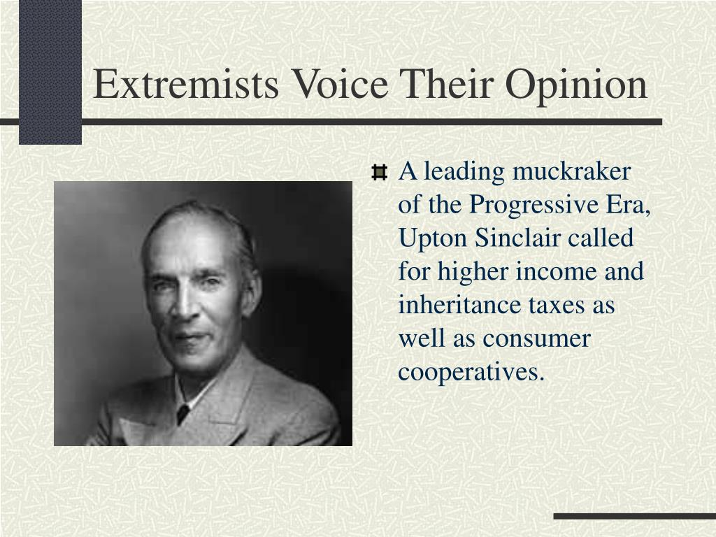 Extremists Voice Their Opinion