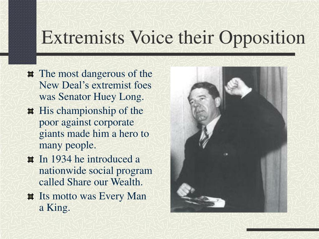 Extremists Voice their Opposition