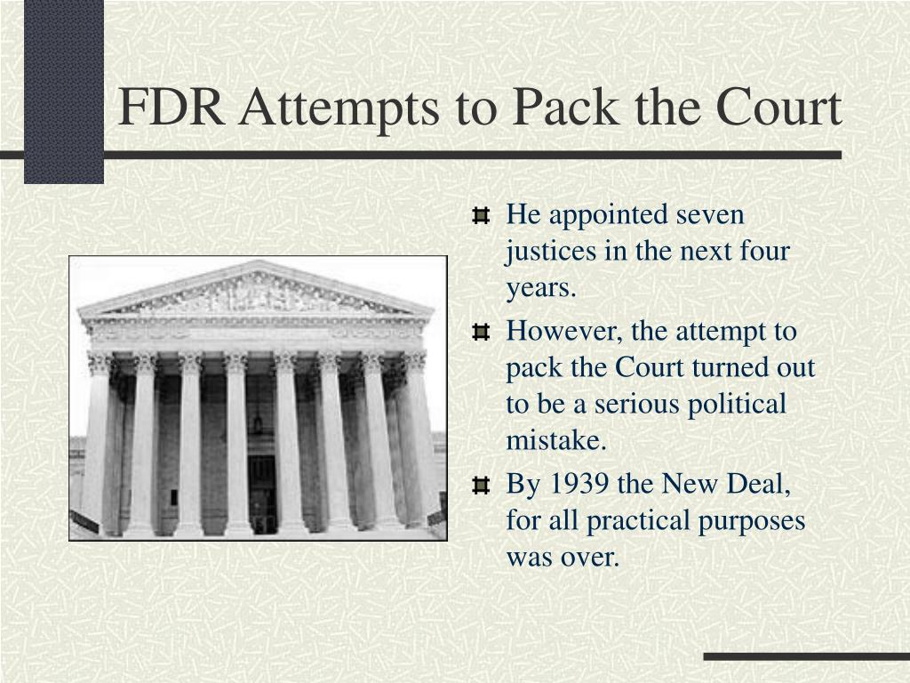 FDR Attempts to Pack the Court