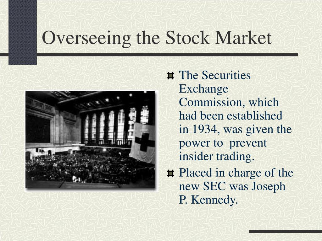 Overseeing the Stock Market