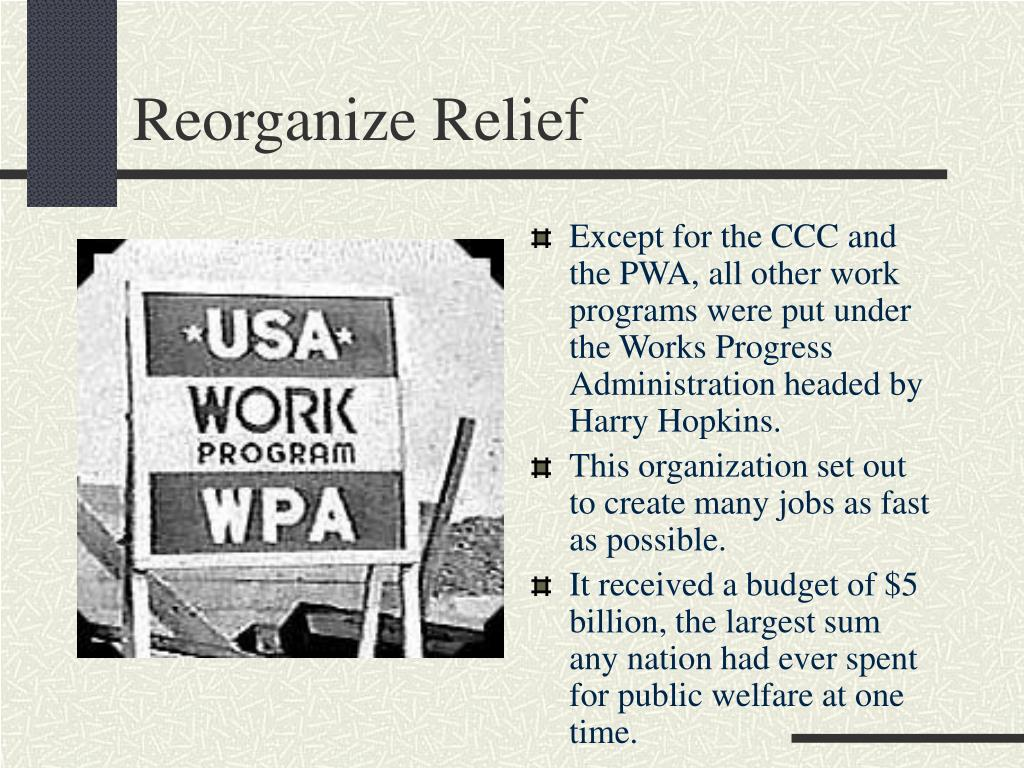 Reorganize Relief