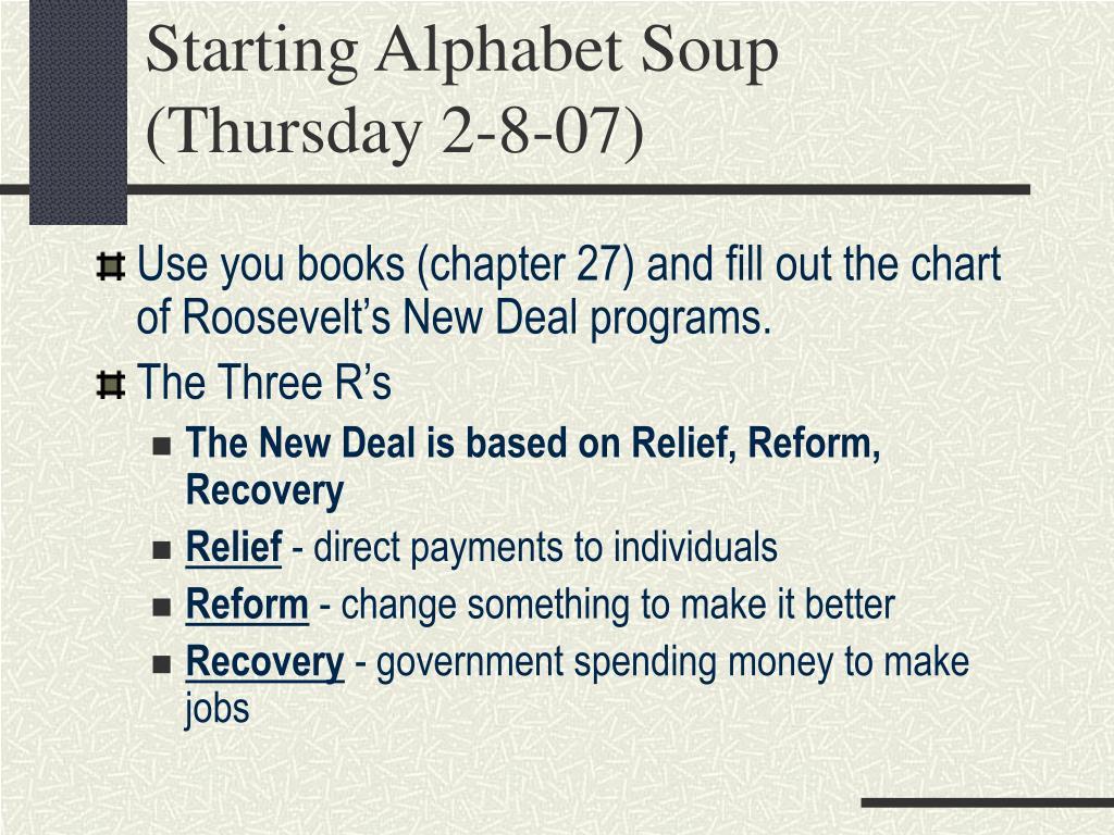 Starting Alphabet Soup (Thursday 2-8-07)