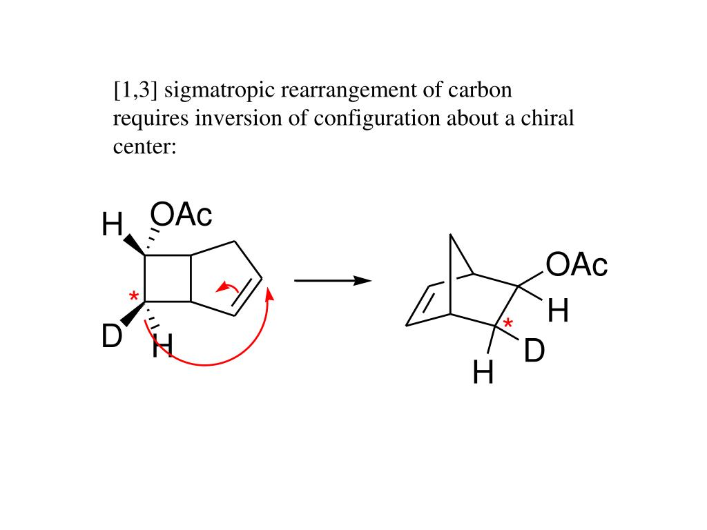 [1,3] sigmatropic rearrangement of carbon requires inversion of configuration about a chiral center: