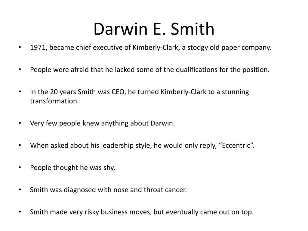 Darwin E. Smith