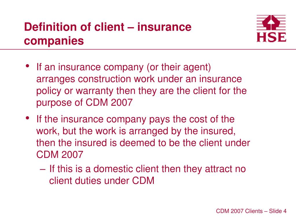 Definition of client – insurance companies