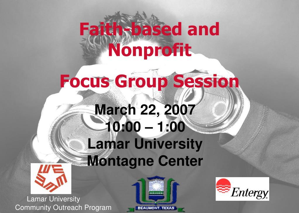 Faith-based and Nonprofit