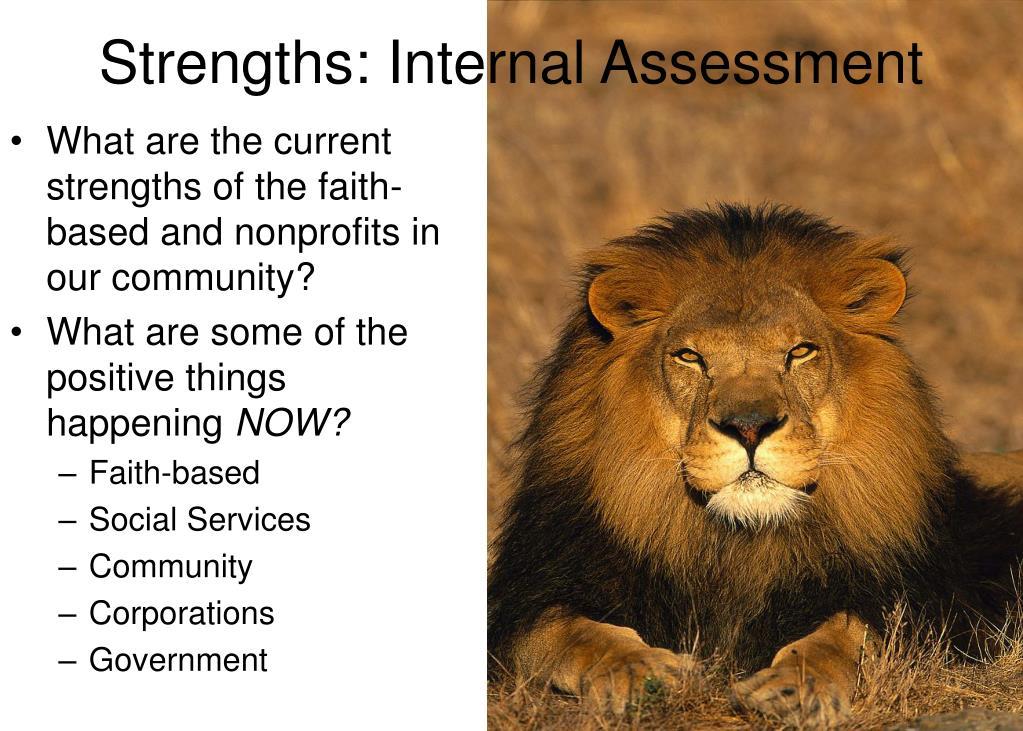 Strengths: Internal Assessment