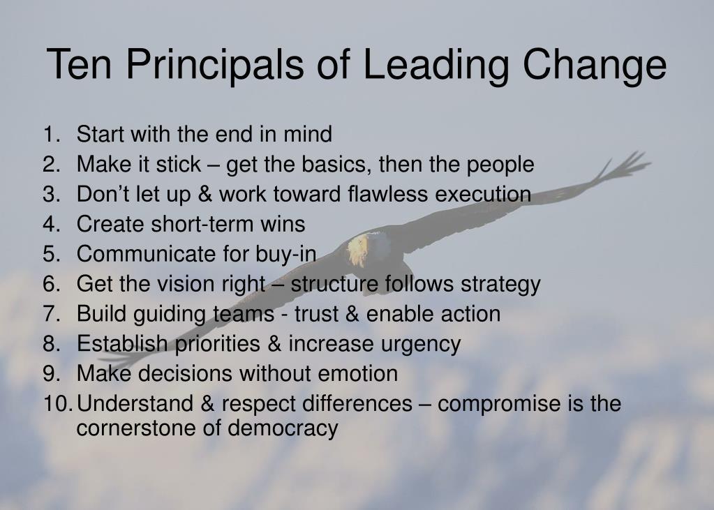 Ten Principals of Leading Change