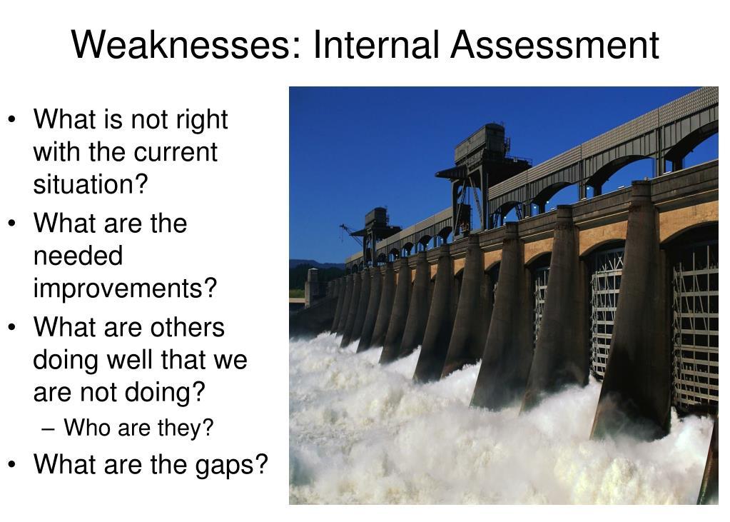 Weaknesses: Internal Assessment