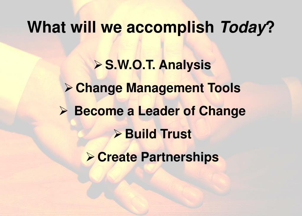 What will we accomplish