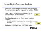 human health screening analysis17