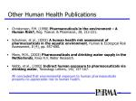 other human health publications