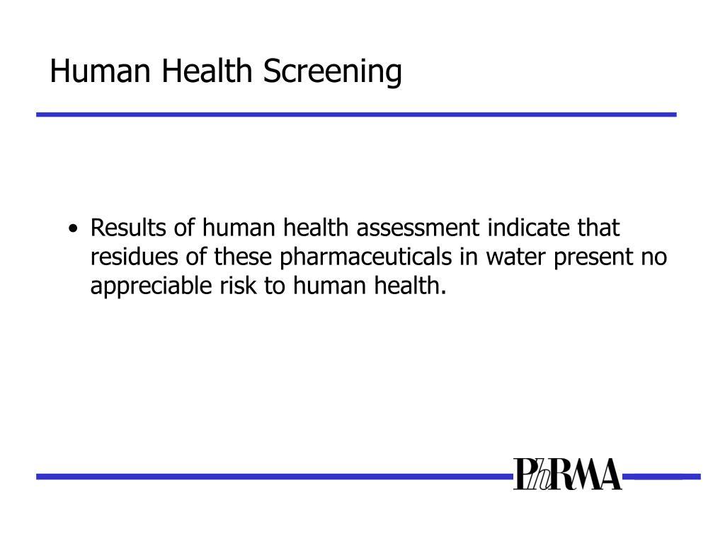 Human Health Screening