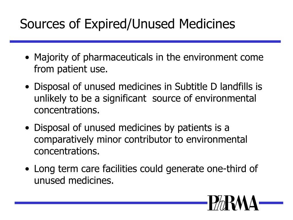 Sources of Expired/Unused Medicines