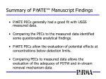 summary of p h ate manuscript findings