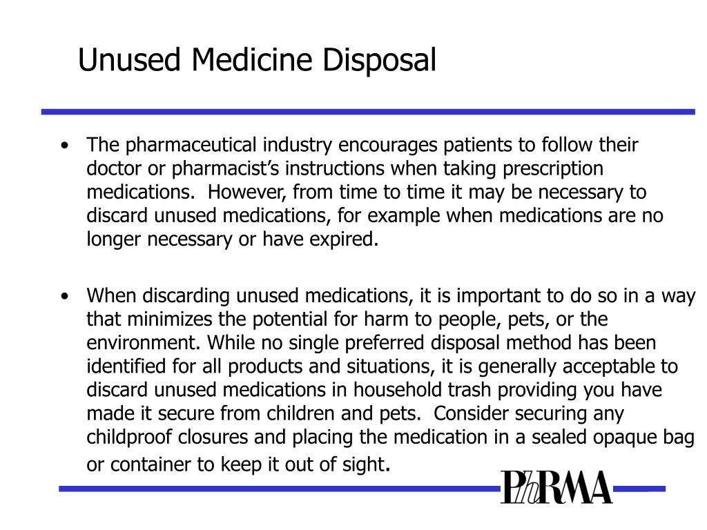 Unused Medicine Disposal