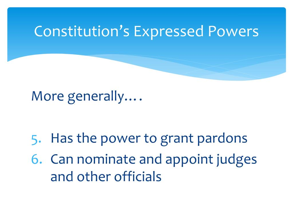 Constitution's Expressed Powers