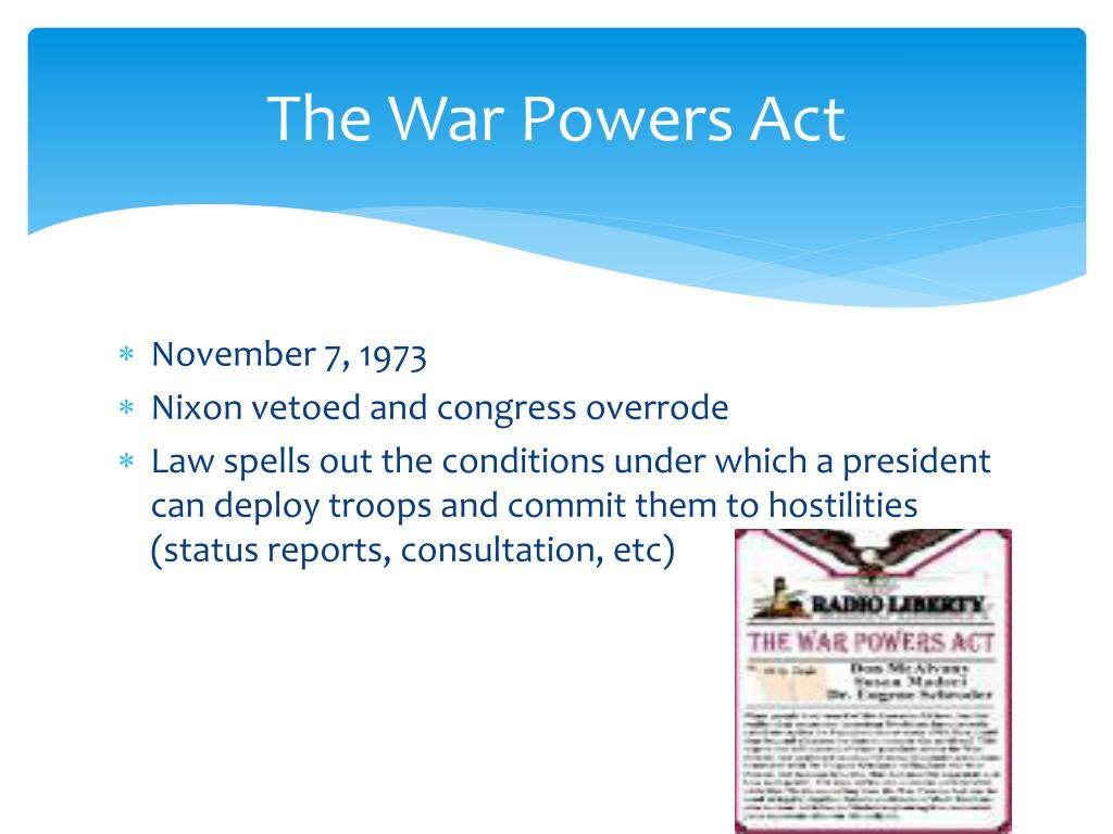 The War Powers Act