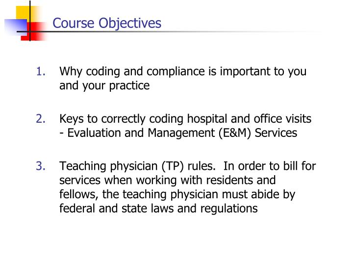 Course objectives3