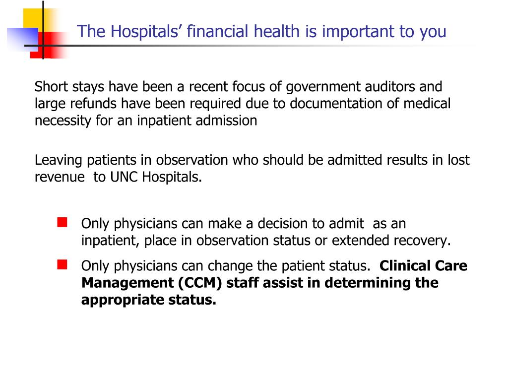 The Hospitals' financial health is important to you